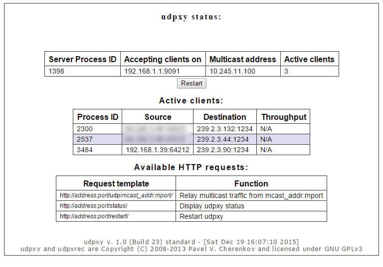 udpxy status