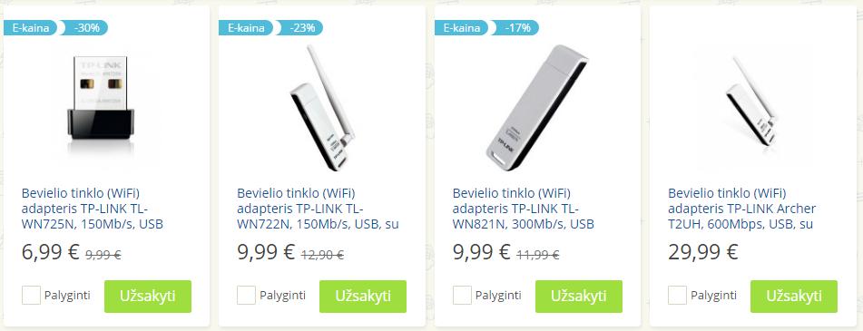Pigus WiFi USB adapteris kompiuteriui, palaikantis 2.4Ghz ir 5Ghz 3