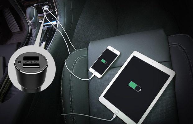 Automobilinis telefono pakrovėjas ir bluetooth FM moduliatorus viename 13