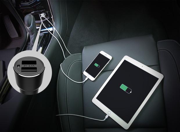 Automobilinis telefono pakrovėjas ir bluetooth FM moduliatorus viename 8