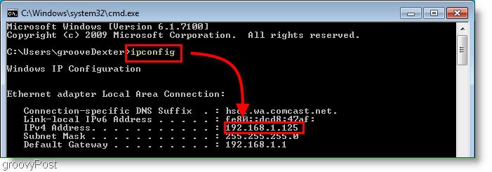 Vidinis kompiuterio IP