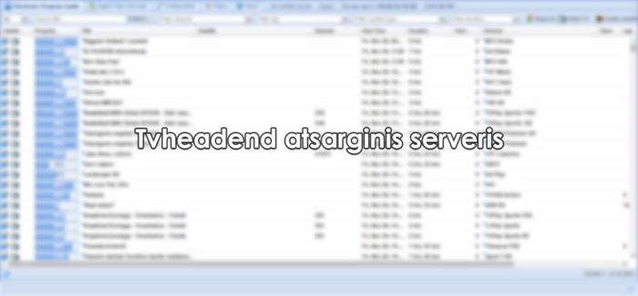 Tvheadend atsarginis serveris, kai atsijungia pagrindinis 1